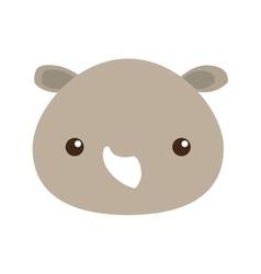 cute rhino isolated icon vector image