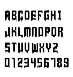 dripping alphabet vector image