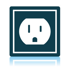 Electric outlet icon vector