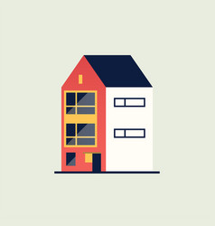 family home modern house vector image