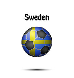flag of sweden in the form of a soccer ball vector image