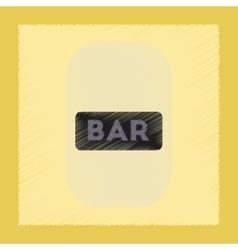 Flat shading style icon bar sign vector