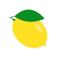 Fresh lemon fruit isolated on a white background vector