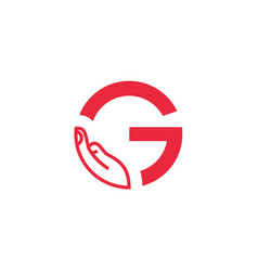 G letter logo with hand vector