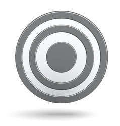 Grey round darts target aim isolated vector image