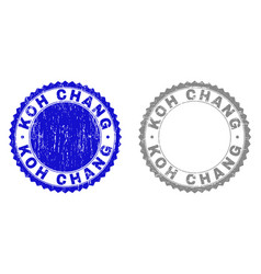 Grunge koh chang textured watermarks vector