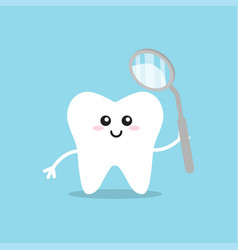 healthy tooth icon oral dental hygiene vector image
