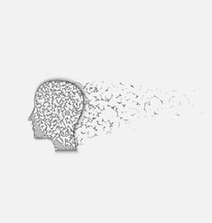 human head destruction vector image