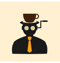 Icon man thinking about breakfast vector image
