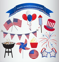 Icons design for 4th july independence day vector