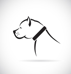 Images of Pitbull dog vector