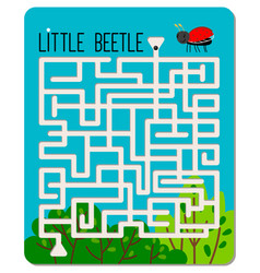 Kid maze game vector