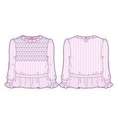 Knitted blouse vector