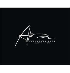 Letter ap signature logo template vector