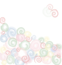 Light colored abstract circles background vector image