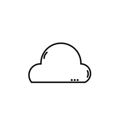 line natural cloud in the sky and nice weather vector image