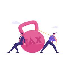 Loan payment taxation concept businessmen vector