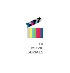 Logo for online TV movie serials vector