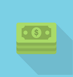 money icon set of great flat icons with style vector image