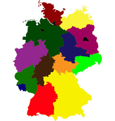 multi-colored map of germany vector image