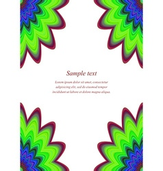 Multicolor page corner design template vector