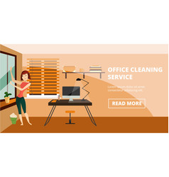 office cleaning service concept banner vector image