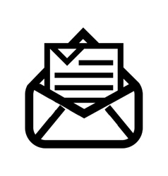 Open email setup isolated icon design vector