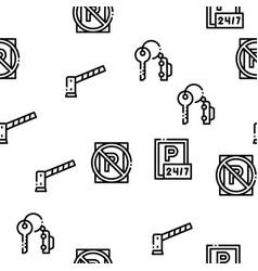 parking car seamless pattern vector image