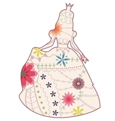 Princess vintage silhouette vector image