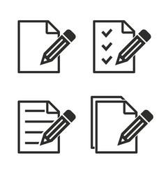 Registration icon set vector