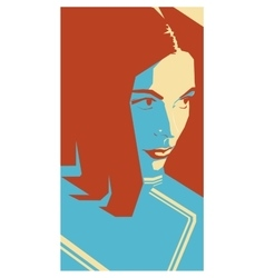 Retro poster with a girl vector image