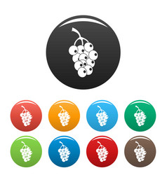 ripe grape icons set color vector image