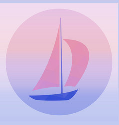 sailboat - logo concept vector image