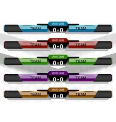 scoreboard sport game vector image