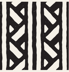 Seamless geometric doodle lines pattern in black vector