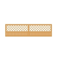 See-Through Wooden Fence Design Element Template vector