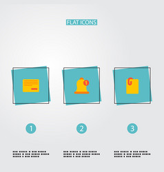 Set of management icons flat style symbols with vector