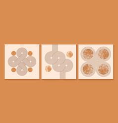 Set of modern minimalist mid century backgrounds vector