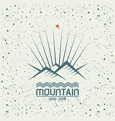 Shining mountain emblem vector image