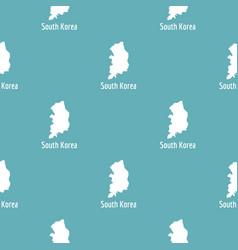 south korea map in black simple vector image