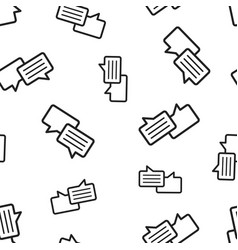Speech bubble seamless pattern background vector