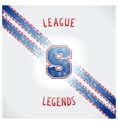Sporting vintage design vector image