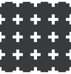 Straight black plus pattern vector