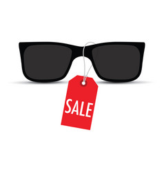 Sunglasses with a sale tag vector