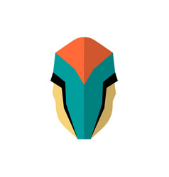 super hero masks in flat style big cartoon vector image