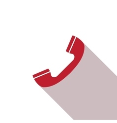 Telephone icon Phone simple icon or logo for web vector