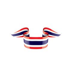 Thailand flag on a white vector