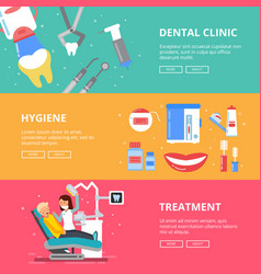 Three horizontal banners of medicine concept vector
