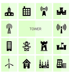 Tower icons vector