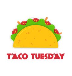 traditional tacos meal tuesday event vector image